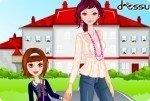 Andare a scuola con la mamma