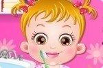 Baby Hazel lava i denti