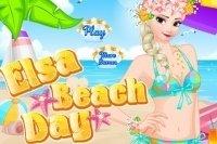 Elsa in spiaggia