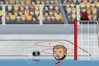 Hockey su ghiaccio con teste
