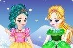 Le giovani Elsa e Anna