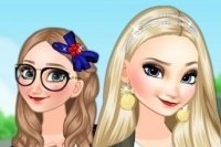 Le sorelle di Frozen studentesse