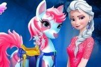 Prenditi cura dei pony di Elsa