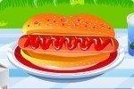 Prepara un hot dog