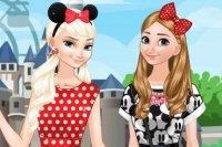 Sorelle Frozen a Disneyland