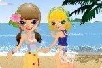 Sorelle sulla spiaggia