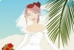 Sposa sulla spiaggia di sabbia