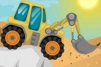 Sul trattore nel deserto